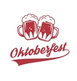 Octoberfest Two vintage beer mug isolated on vector image vector image