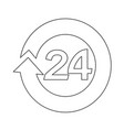 open 24 hours icon design vector image