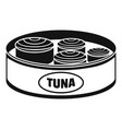 open tuna can icon simple style vector image vector image