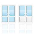 plastic doors 03 vector image vector image