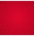 Red spiral dots background vector image