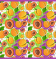 seamless pattern apricot fruits summer ornament vector image vector image