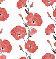 Seamless red and black floral pattern vector image vector image