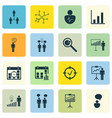 set of 16 board icons includes co-working vector image vector image