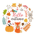 set of isolated autumn elements part 1 vector image