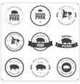 Set of premium pork meat labels vector image vector image