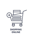 shopping online line icon concept shopping online vector image vector image