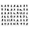 silhouettes tango players vector image