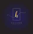 simple elegance initial letter h logo type sign vector image vector image