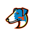 smooth fox terrier mascot vector image vector image