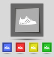 Sneakers icon sign on original five colored vector image vector image
