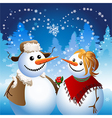 Snowman on date vector image vector image