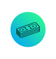 stack bills icon gradient button with pile vector image