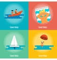 Summer Holidays Banner Set Beach activities vector image