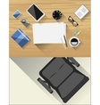 Table for creative artist Accessories for drawing vector image vector image