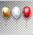 three balloons for birthday festive occasions vector image vector image