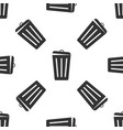 trash can isolated icon seamless pattern vector image vector image