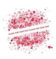 Valentine frame design with place for your text vector image