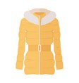 woman down jacket flat style vector image