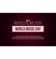 world music day celebration art vector image vector image