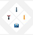 flat icon necktie set of tailoring cravat vector image