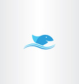 blue shark icon sign vector image