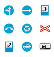 direction sign icons set flat style vector image