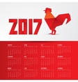 Red Rooster Chinese symbol of the year made from vector image