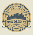 Stamp New Orleans vector image