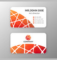 abstract mesh and polygonal name card template vector image vector image