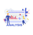 analysis analytics cartoon vector image
