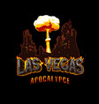 apocalypse and armageddon vintage template vector image