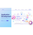 application development and web development vector image
