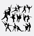 ballerina couple male and female silhouette vector image vector image