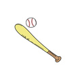 baseball bat league sport theme vector image