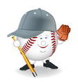 baseball cartoon character vector image