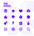 basic icons set 48x48 pixel perfect editable vector image vector image