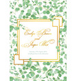 beautiful rustic wedding invitation card vector image