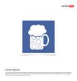 beer mug icon - blue photo frame vector image