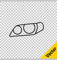 black line car headlight icon isolated on vector image vector image