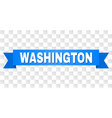 blue ribbon with washington caption vector image