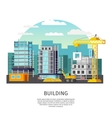 Building Work Orthogonal Design vector image vector image