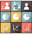 Business Infographic icons in Flat Design vector image