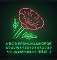 california poppy neon light icon papaver rhoeas vector image vector image