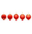 chinese red lanterns asian new year paper lights vector image