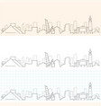 cleveland hand drawn skyline vector image vector image