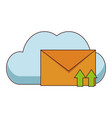 cloud computing and email vector image vector image