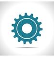 cogwheel icon Epsflat color0 vector image vector image