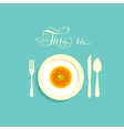 Cupcake on a plate vector image vector image