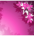 Decorative Pink Floral Background vector image vector image